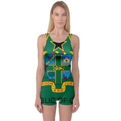 National Seal of Ghana One Piece Boyleg Swimsuit