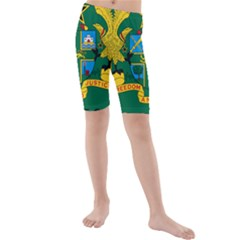 National Seal of Ghana Kids  Mid Length Swim Shorts