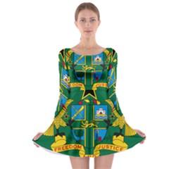 National Seal of Ghana Long Sleeve Skater Dress
