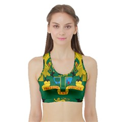 National Seal of Ghana Sports Bra with Border