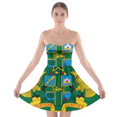 National Seal of Ghana Strapless Bra Top Dress