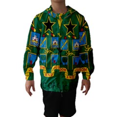 National Seal of Ghana Hooded Wind Breaker (Kids)