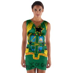 National Seal of Ghana Wrap Front Bodycon Dress
