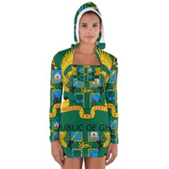 National Seal of Ghana Women s Long Sleeve Hooded T-shirt