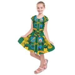National Seal of Ghana Kids  Short Sleeve Dress