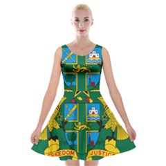 National Seal of Ghana Velvet Skater Dress