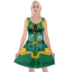 National Seal of Ghana Reversible Velvet Sleeveless Dress