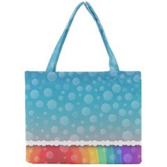 Rainbow Background Border Colorful Mini Tote Bag