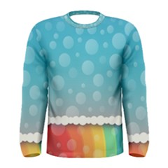 Rainbow Background Border Colorful Men s Long Sleeve Tee