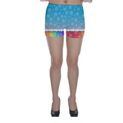 Rainbow Background Border Colorful Skinny Shorts