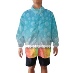 Rainbow Background Border Colorful Wind Breaker (Kids)