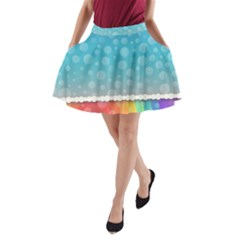 Rainbow Background Border Colorful A-Line Pocket Skirt