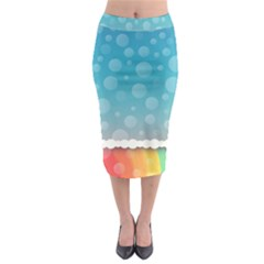 Rainbow Background Border Colorful Midi Pencil Skirt