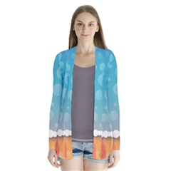 Rainbow Background Border Colorful Cardigans