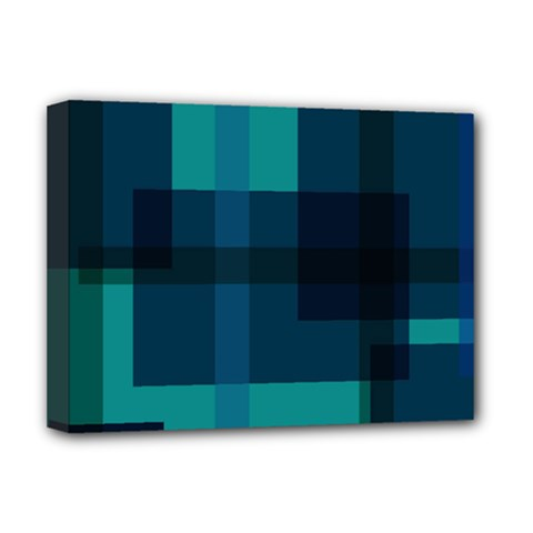 Boxes Abstractly Deluxe Canvas 16  X 12
