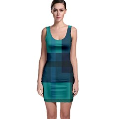 Boxes Abstractly Sleeveless Bodycon Dress