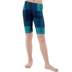 Boxes Abstractly Kids  Mid Length Swim Shorts