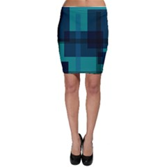 Boxes Abstractly Bodycon Skirt