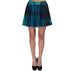 Boxes Abstractly Skater Skirt