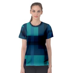 Boxes Abstractly Women s Sport Mesh Tee