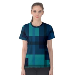 Boxes Abstractly Women s Cotton Tee