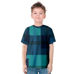 Boxes Abstractly Kids  Cotton Tee