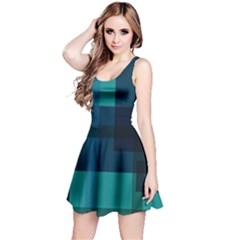 Boxes Abstractly Reversible Sleeveless Dress