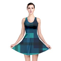 Boxes Abstractly Reversible Skater Dress