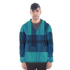Boxes Abstractly Hooded Wind Breaker (men)