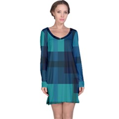 Boxes Abstractly Long Sleeve Nightdress