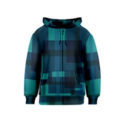 Boxes Abstractly Kids  Zipper Hoodie