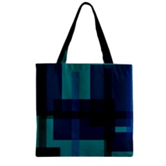 Boxes Abstractly Zipper Grocery Tote Bag