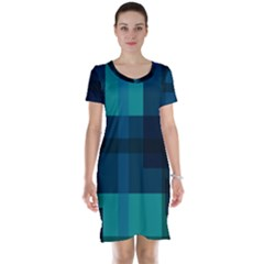 Boxes Abstractly Short Sleeve Nightdress