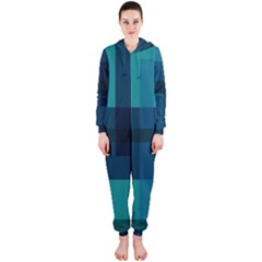 Boxes Abstractly Hooded Jumpsuit (ladies)