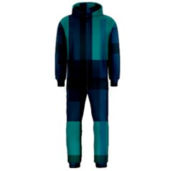 Boxes Abstractly Hooded Jumpsuit (Men)