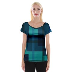Boxes Abstractly Women s Cap Sleeve Top