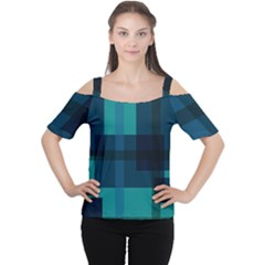 Boxes Abstractly Women s Cutout Shoulder Tee