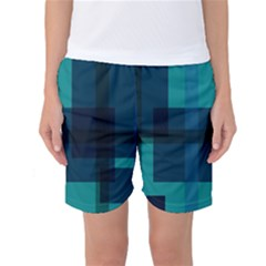 Boxes Abstractly Women s Basketball Shorts