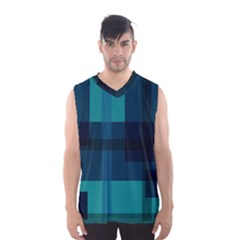 Boxes Abstractly Men s Basketball Tank Top