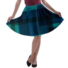 Boxes Abstractly A Line Skater Skirt