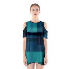 Boxes Abstractly Shoulder Cutout One Piece