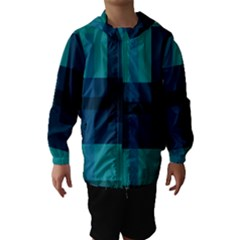 Boxes Abstractly Hooded Wind Breaker (kids)