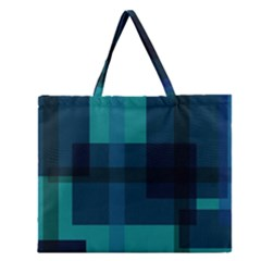 Boxes Abstractly Zipper Large Tote Bag