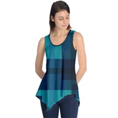 Boxes Abstractly Sleeveless Tunic