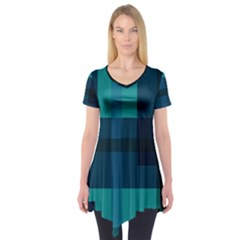 Boxes Abstractly Short Sleeve Tunic