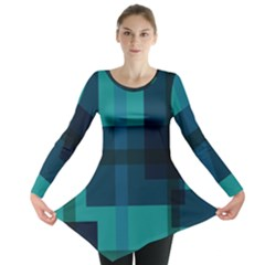 Boxes Abstractly Long Sleeve Tunic