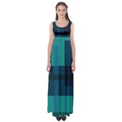 Boxes Abstractly Empire Waist Maxi Dress
