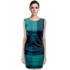 Boxes Abstractly Classic Sleeveless Midi Dress