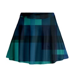Boxes Abstractly Mini Flare Skirt