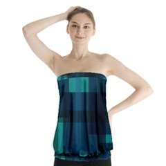 Boxes Abstractly Strapless Top